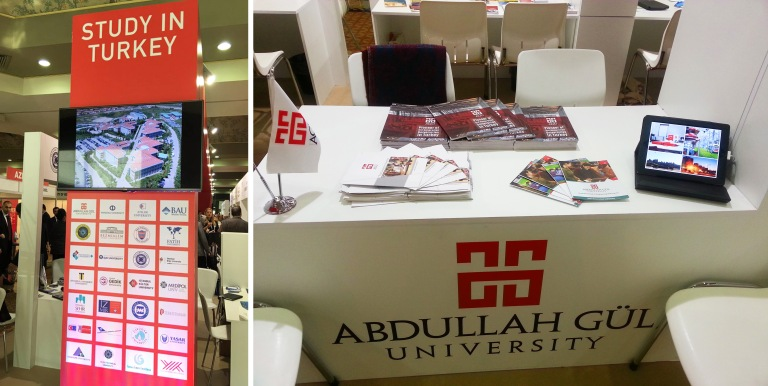Abdullah Gül University, AGU, International Office, Study in Turkey, Pavilion, EURIE, Higher Education, Conference, Expo, Haliç