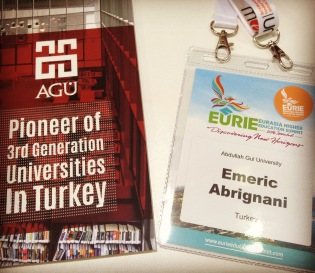 EURIE, Abdullah Gül University, International Office, Exhibitor, Pioneer of 3rd Generation Universities, Study in Turkey, Conference, Expo, Partnerships, AGU