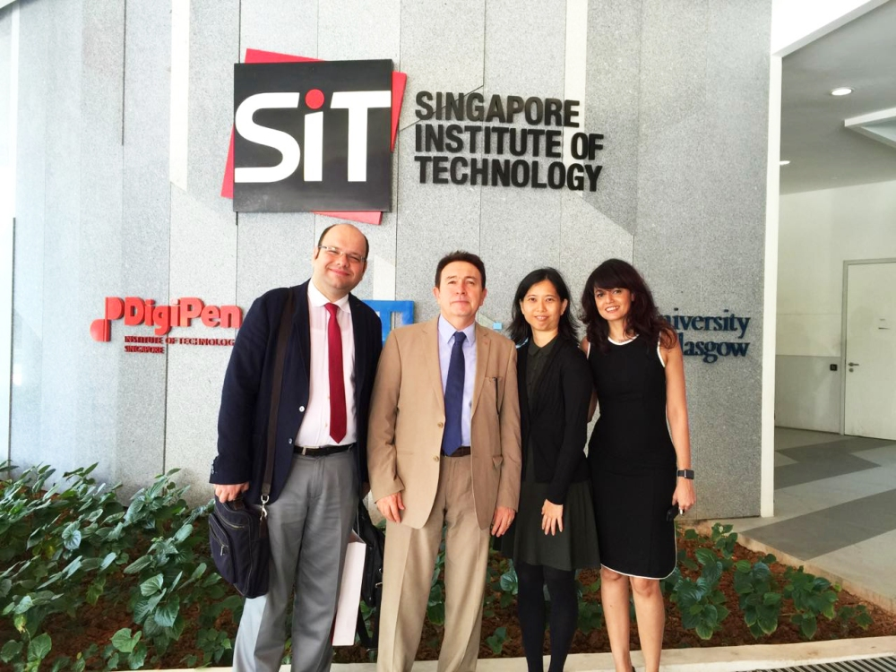 AGU, Abdullah Gül University, Working visit, meeting, cooperation, Singapore Institute of Technology, DigiPen