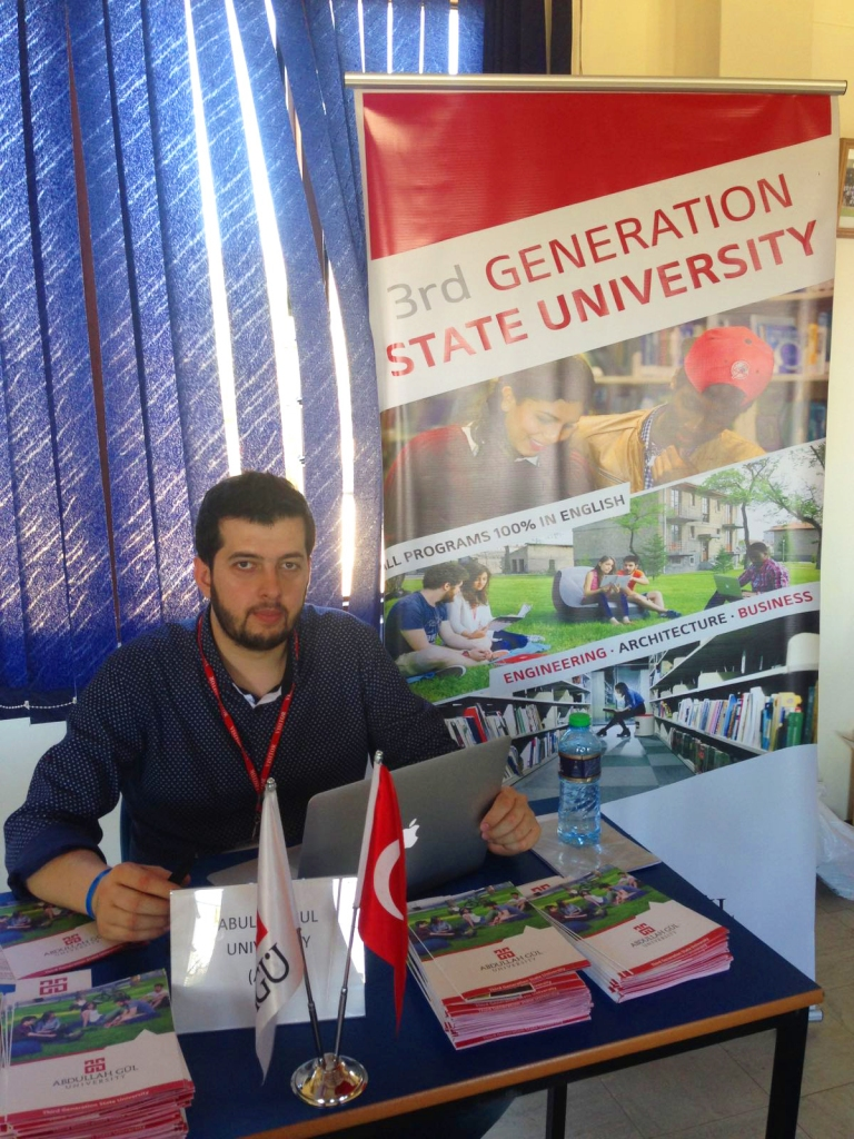 Abdullah Gül University, AGU, Fair stand, Third Generation, State University, Study in Turkey, All programs, 100%, English, Engineering, Architecture, Business, Africa, Student Fair, Kenya, Tanzania, Apply to AGU