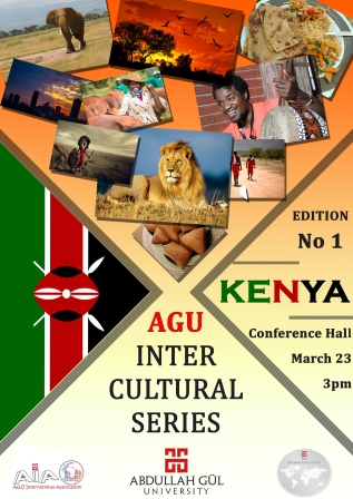 AGU, Abdullah Gül University, Intercultural Series, First Edition, Kenya, International Students, Cultural Exchange, On-campus, event, student life, International Office, AGU International Association, student club