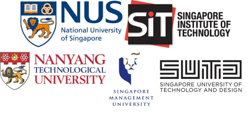 National University of Singapore, Singapore Institute of Technology, Nanyang Technological University, Singapore Management University, Singapore University og Technology and Design, Abdullah Gül University