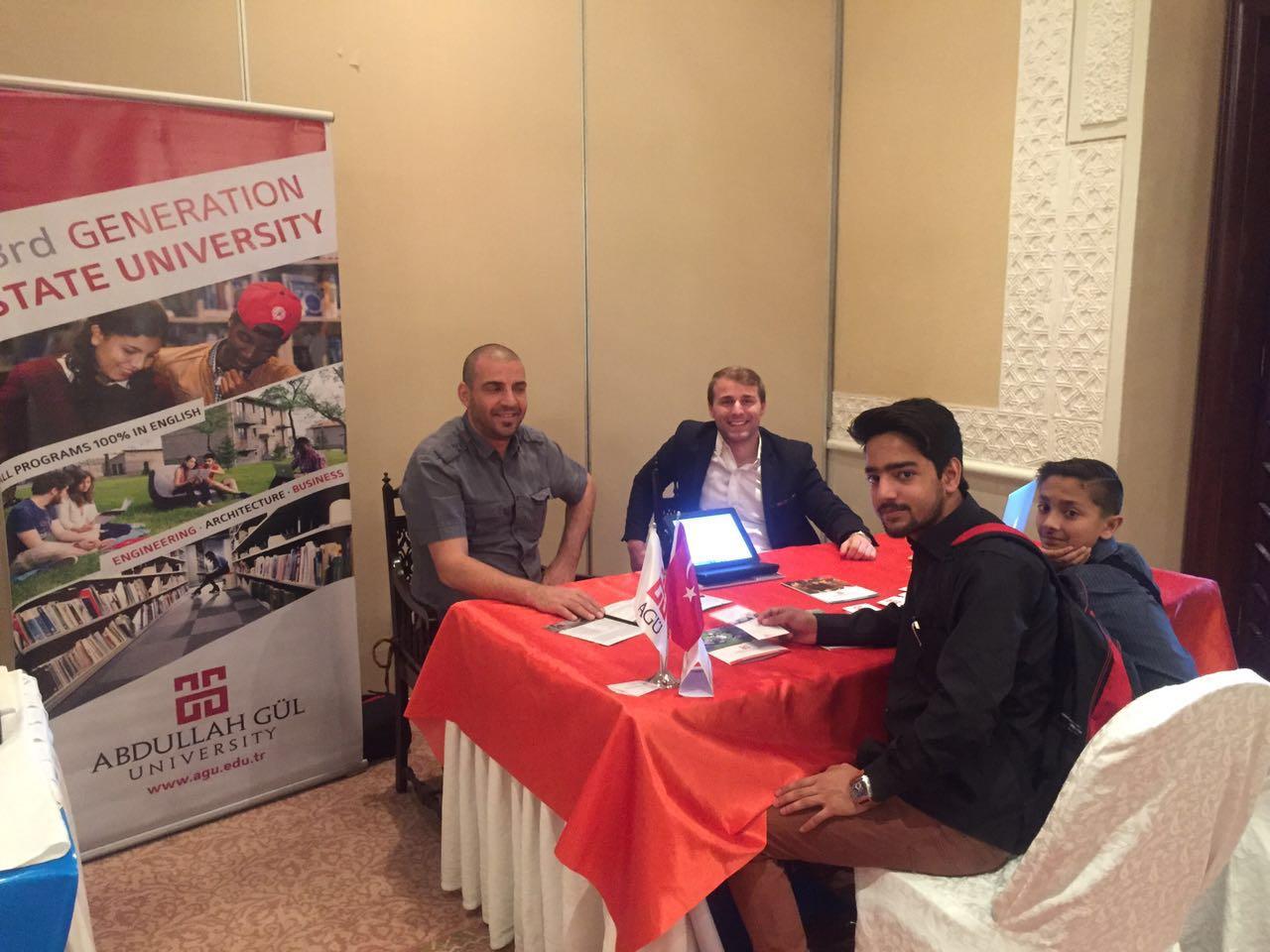 Abdullah Gül University, AGU, Third Generation, State University, International Office, Student Recruitment, Pakistan, fair, Internationalization, Engineering, Architecture, Business, 100% English