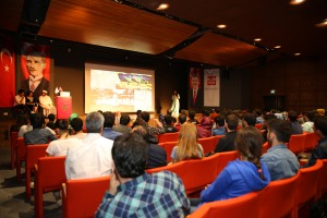 Abdullah Gül University, AGU, presentattion, intercultural event, morocco, international students, conference, hall