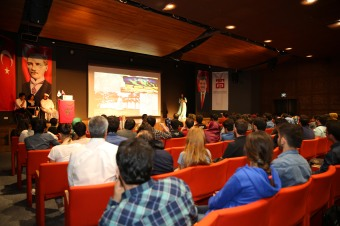 Abdullah Gül University, AGU, presentattion, intercultural event, morocco, international students, conference, hall