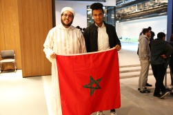 Morocco, flag, international students, AGU, Abdullah Gül University, conference hall