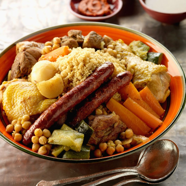 Example of traditional couscous