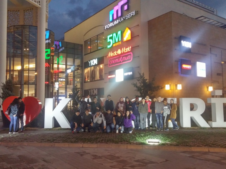 Abdullah Gül University, AGU, International Students, orientation program, Kayseri, city, tour, city center, shopping mall