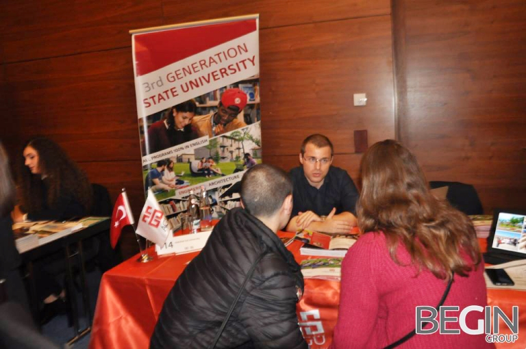Abdullah Gül University, AGU, International Office, BEGIN Group, Georgia, Tbilisi, fair, student, recruitment, international