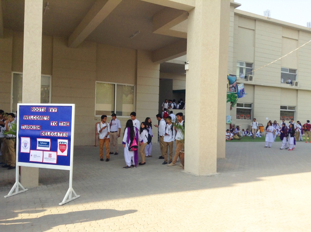 AGU, International, high school visit, Pakistan