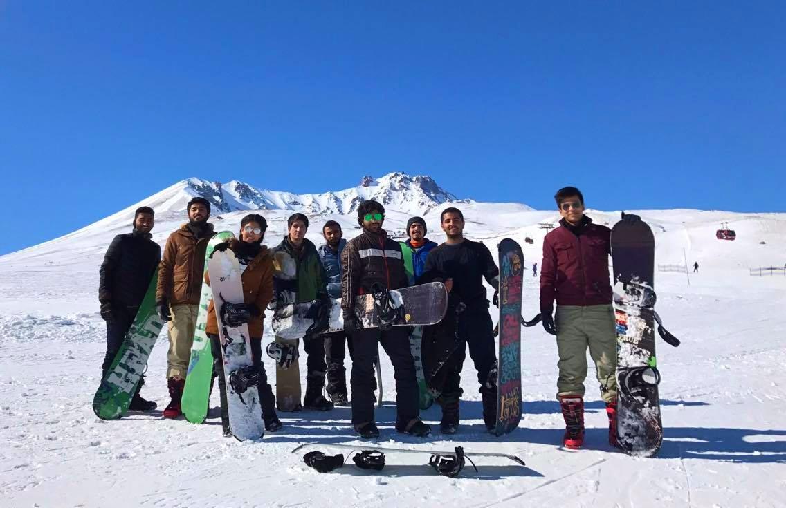 Abdullah Gül University, AGU, international, students, Erciyes, Ski, resort, snowboarding, fun, outing, event, international office