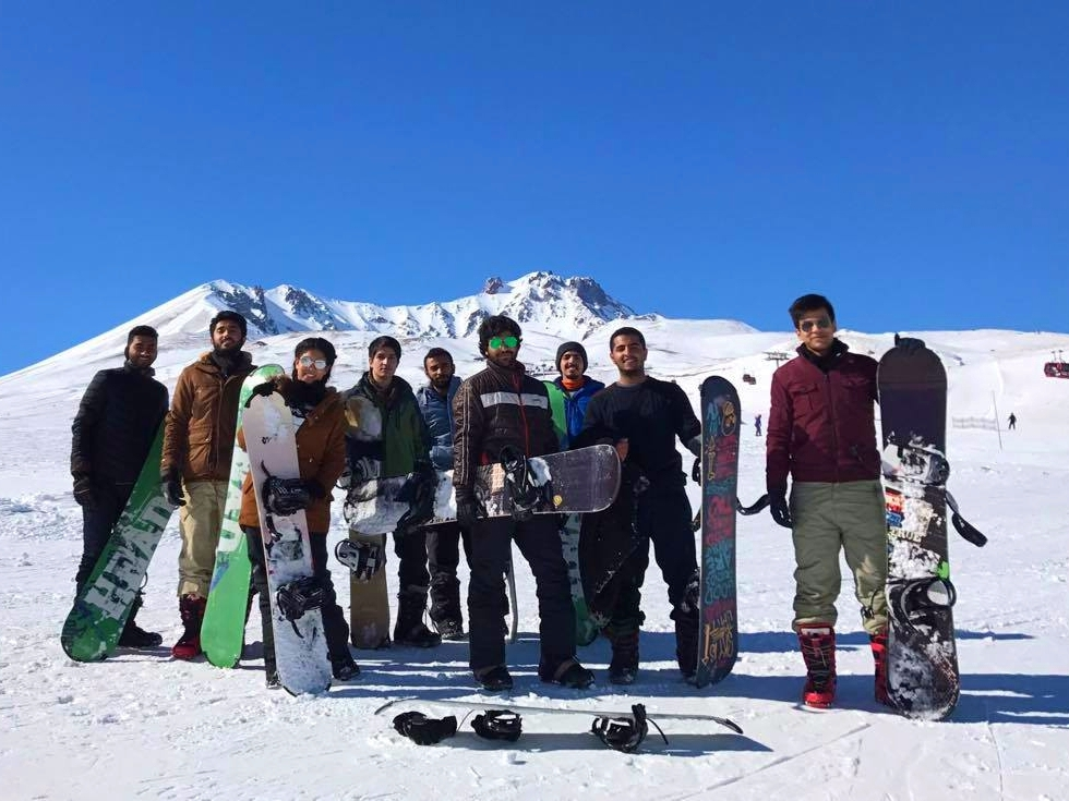 Abdullah Gül University, AGU, international, students, Erciyes, Ski, resort, snowboarding, fun, outing, event, international office