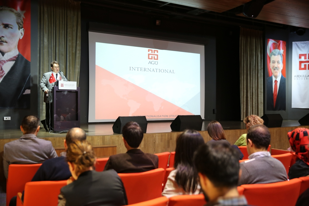 Abdullah Gül University, rector, Prof, Dr, Ihsan Sabuncuoglu, strategy, meeting, internationalisation