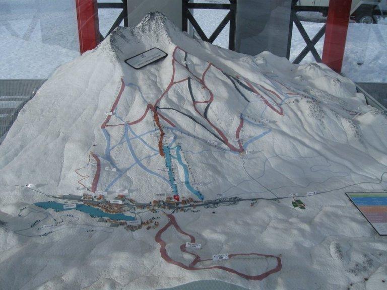 Kayseri, Erciyes, Masterplan, ski slopes, scale model