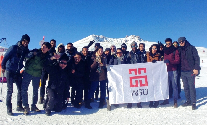 AGU, International Students, Abdullah Gül University, ski, fun, activity