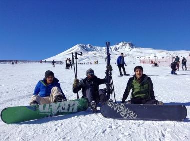 International, students, Abdullah Gül University, snowboard, Ericyes Ski Resort, semester break