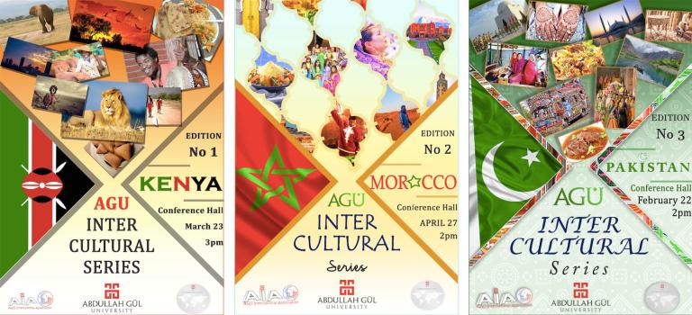 AGU, Abdullah Gül University, Intercultural Series, Morocco, Kenya, Pakistan, international students, event, song, dance, on-campus
