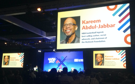 NAFSA, 2017, Los Angeles, Convention Center, Kareem Abdul-Jabbar, NBA, Basketball, Keynote Speech