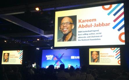 NAFSA, 2017, Los Angeles, Convention Center, Kareem Abdul-Jabbar, NBA, Basketball, Keynote Speech