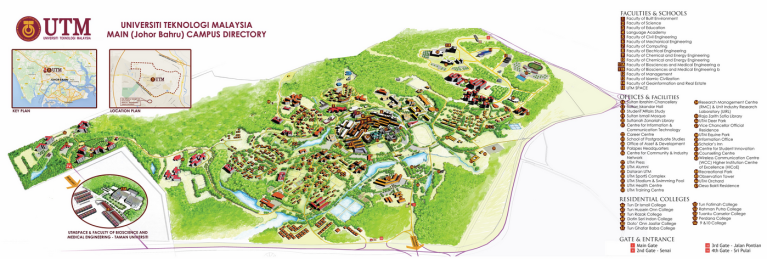 UTM, Malaysia, Campus map, Library