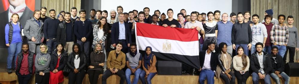 AGU International community, international, turkish, students, intercultural series, Egypt, event, group photo