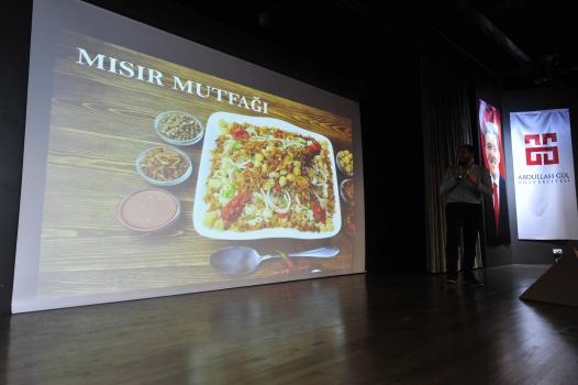 Abdullah Gül University, AGU, Egypt, international students, intercultural series, Egyptian food