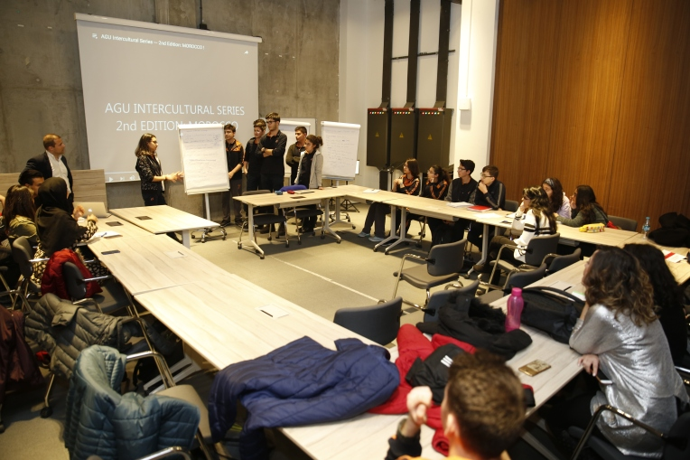 Tekden Koleji, high school students, Abdullah Gül University, international, students, AGU Intercultural Workshop, AGU Sümer Campus