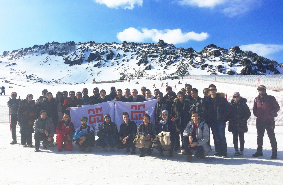Abdullah Gül University, AGU, International Office, international students, ski trip, Erciyes, Ski REsort, Kayseri