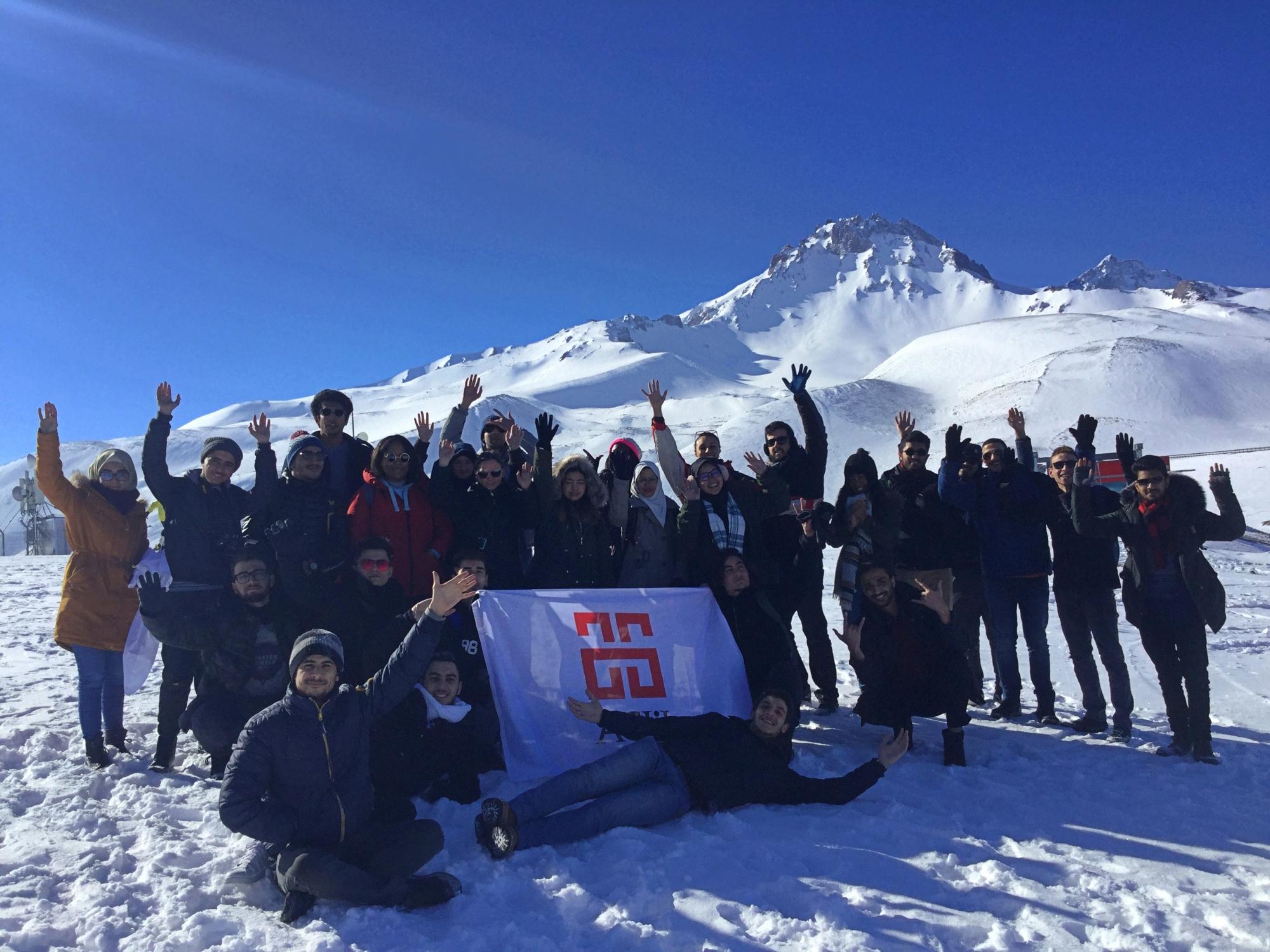 Abdullah Gül University, International Office, international students, ski, trip, snowboarding, Erciyes