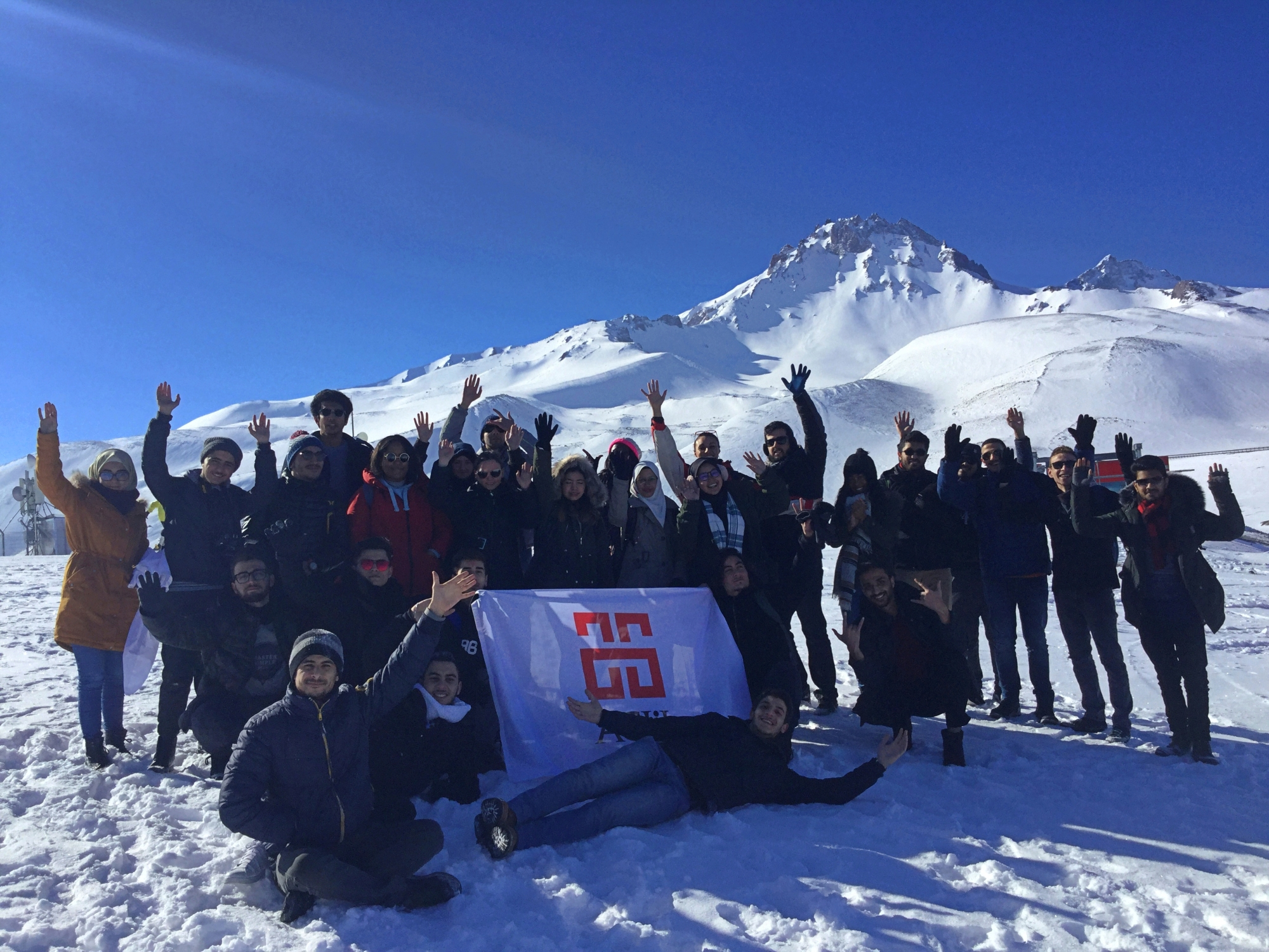 Abdullah Gül University, International Office, international students, ski, trip, snowboarding, Erciyes