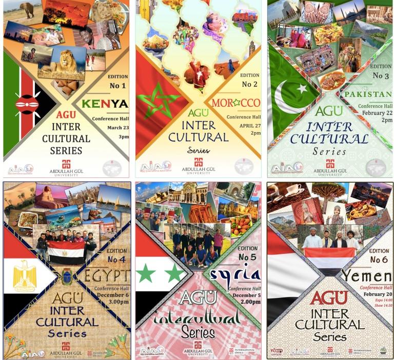 Abdullah Gül University, AGU, on-campus, events, AGU Intercultural Series, International Office, International Student Association, International Students, Kenya, Morocco, Pakistan, Egypt, Syria, Yemen