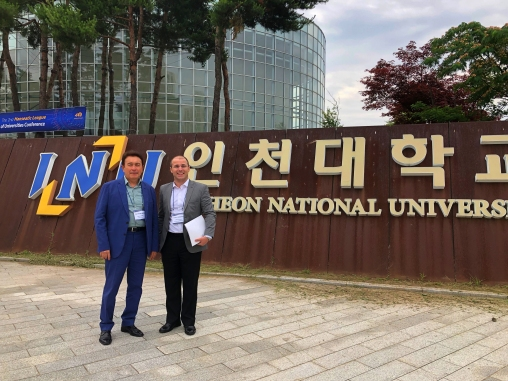 Incheon National University, INU, campus tour, Abdullah Gül University, AGU, Rector Ihsan Sabuncuoğlu, Internaitonal Office, Emeric Abrignani