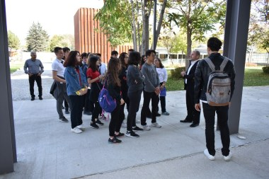 Erciyes Koleji, high school students, campus tour, Abdullah Gül University, International Office Director, Emeric abrignani