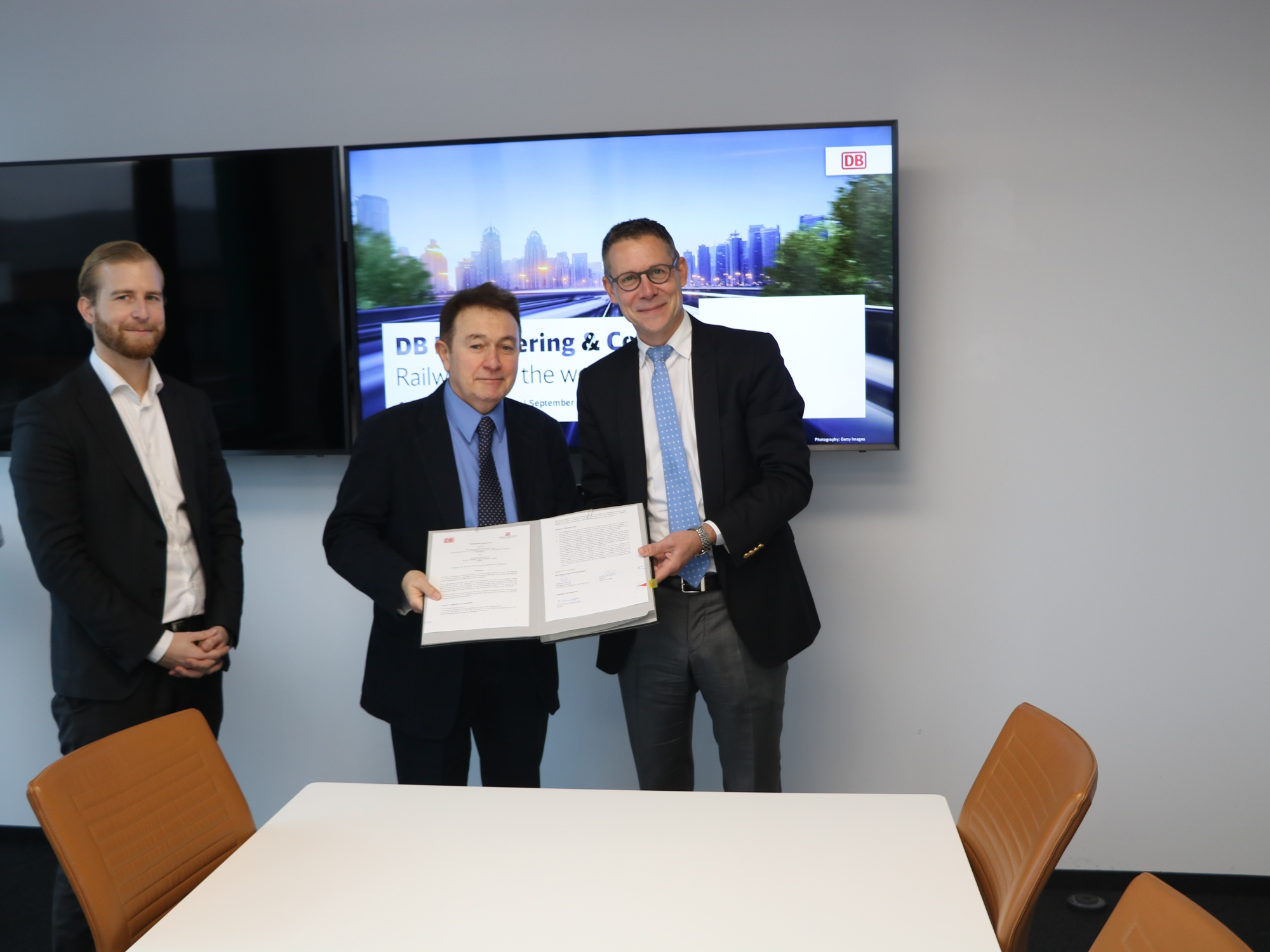 Abdullah Gül University, Deutsche Bahn, AGU, DB, Berlin headquarters, partnership agreement, signing ceremony