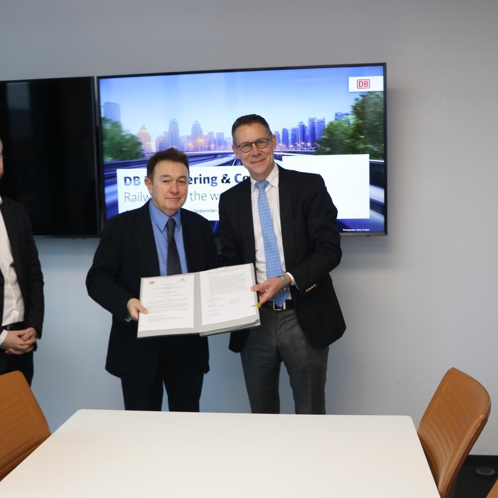 Abdullah Gül University, Deutsche Bahn, AGU, DB, Berlin headquarters, partnership agreement, signing ceremony