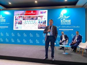 "AGU, Abdullah Gül University, Rector, Prof. Dr. İhsan Sabuncuğlu, speaking at EURIE 2020, Panel Young Entrepreneurial Universities: The Turkish Experience, ""Sıradanlaşma / Finding and Maintaining Your Edge"""