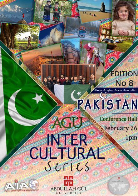 AGU, Intercultural Series, Abdullah Gül University, Sümer Campus, Kayseri, Turkey, Pakistan