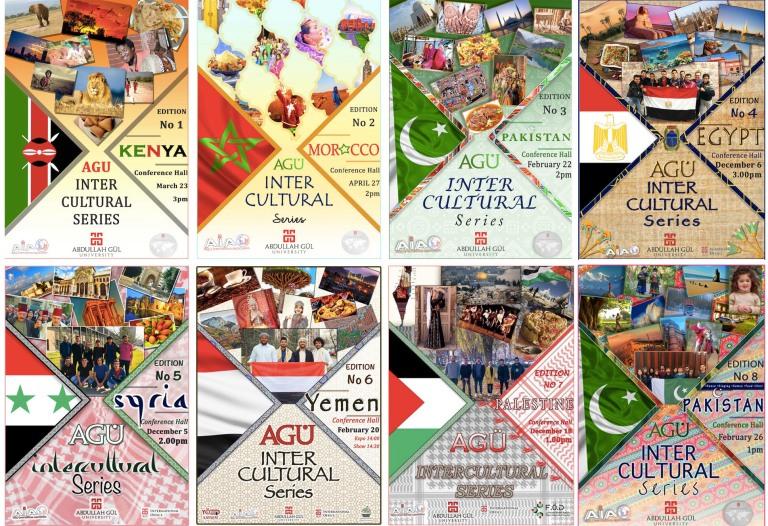 Abdullah Gül University, AGU, Intercultural, Series, events, on-campus, Kenya, Morocco, Pakistan, Egypt, Syria, Yemen, Palestine